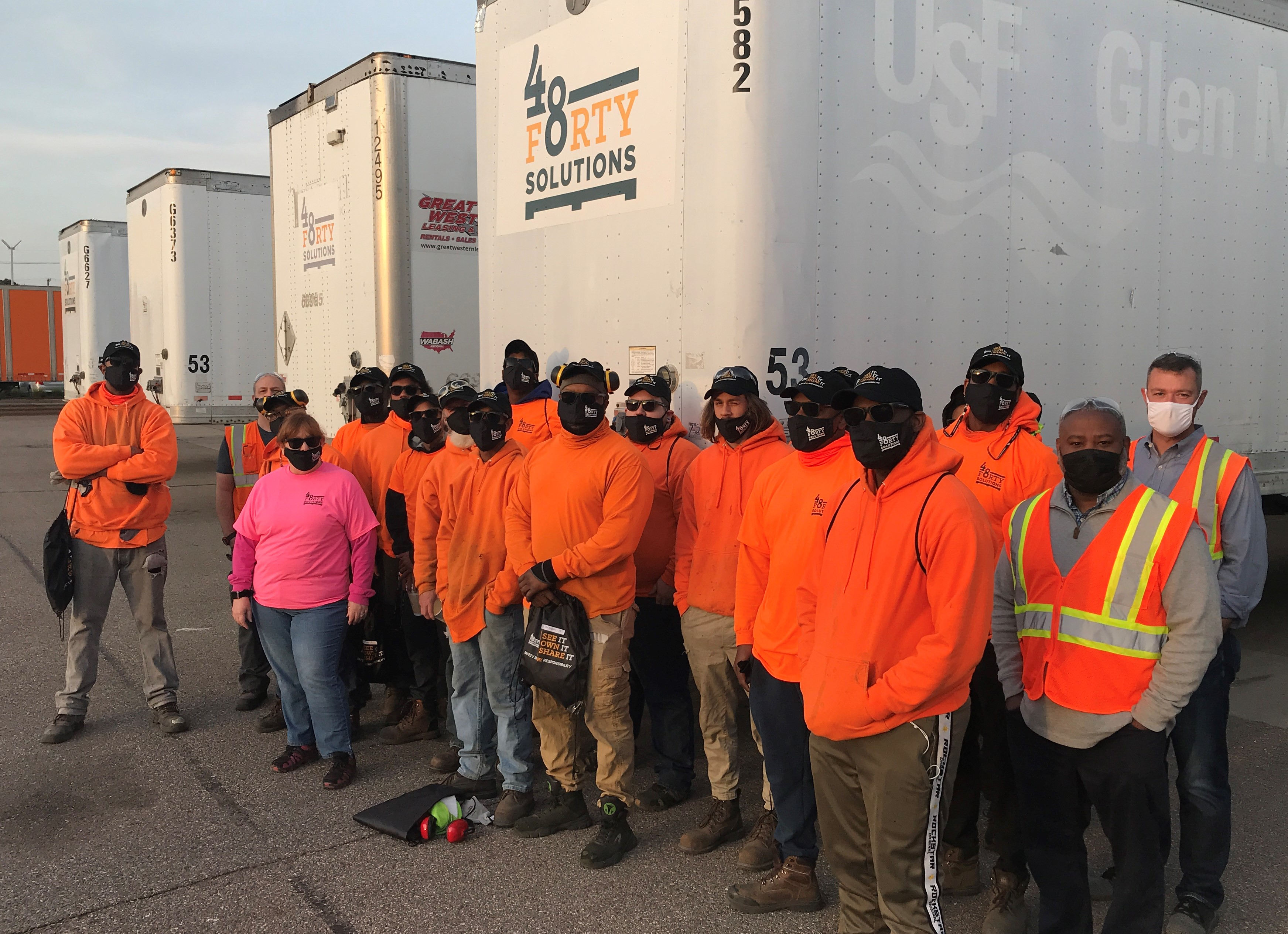 The Livonia, MI team gathered for a safety discussion and lunch.